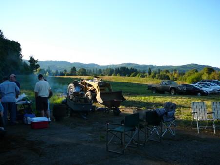 view across the fields