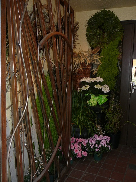 decorated entryway