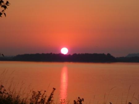 full-on sunset