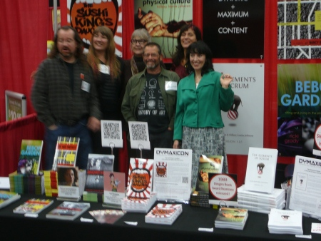 the Dymaxicon booth at Wordstock