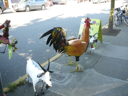 metal sculpture farm animals