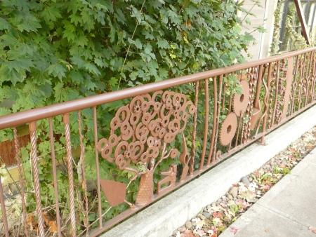 welded metal fence