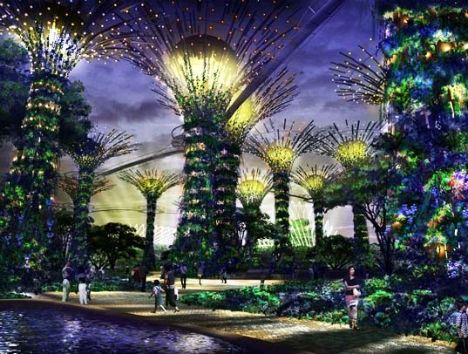 solar supertrees in Singapore