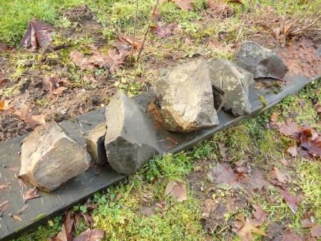 salvaged rocks