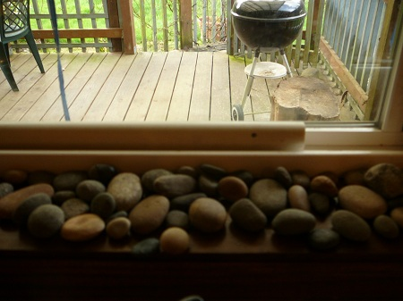 windowsill rocks