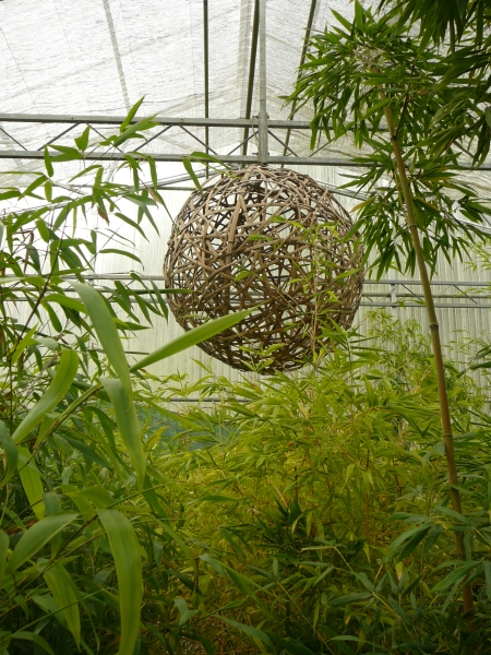 bamboo sphere sculpture
