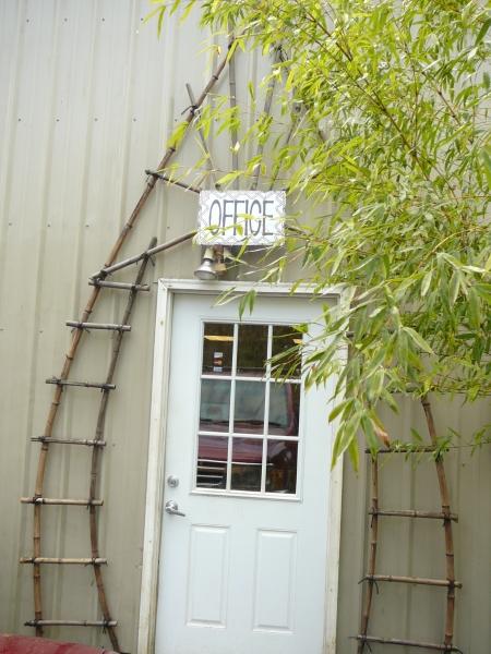 bamboo doorway