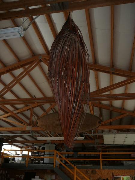 bamboo pod sculpture