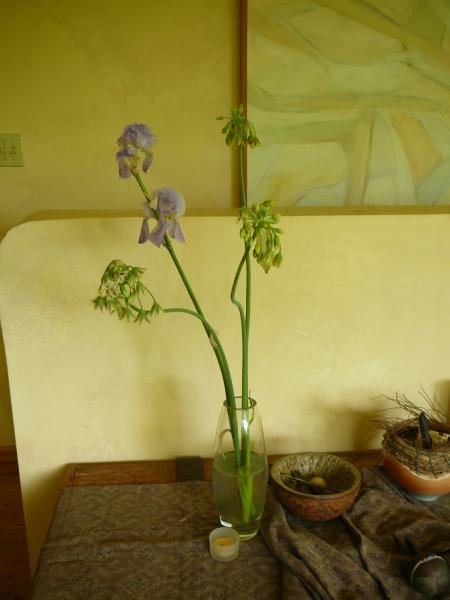 bouquet of Nectaroscorum siculum and Iris