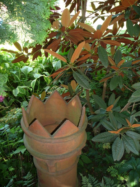 chimney pot and Rhody