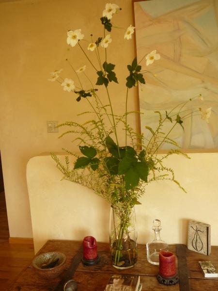 Anemone, Solidago, Lonicera