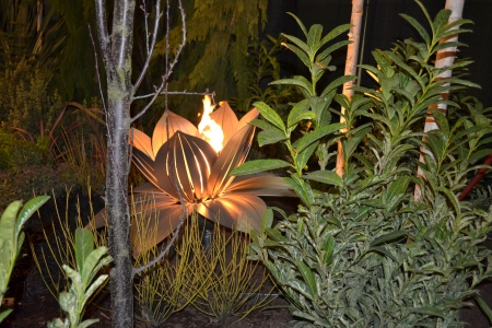 metal flower fire pit