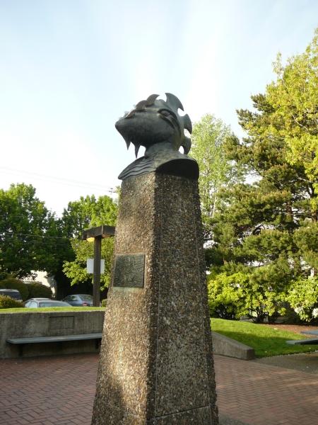 closer look at the sculpture