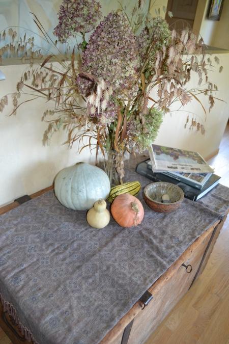sea oats and Hydrangeas