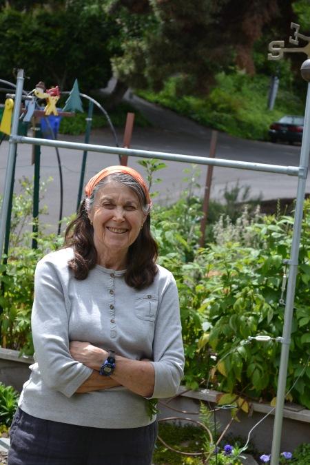 Hilda in her garden